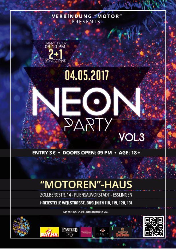 Neon Party SS17 Einladung | Verbindung \